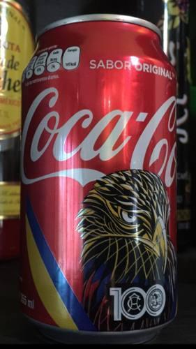 Lata coca cola américa centenario