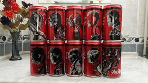 Lata coca cola avengers endgame 235 ml. 10 personajes 10 lat