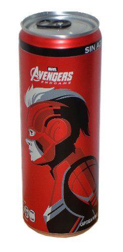 Lata coca cola capitana marvel avengers s/liquido 355ml