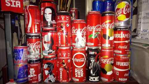 Lata coca cola / pepsi / dr. pepper