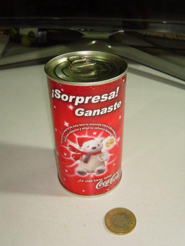 Lata coca cola sorpresa año 2001 cerrada