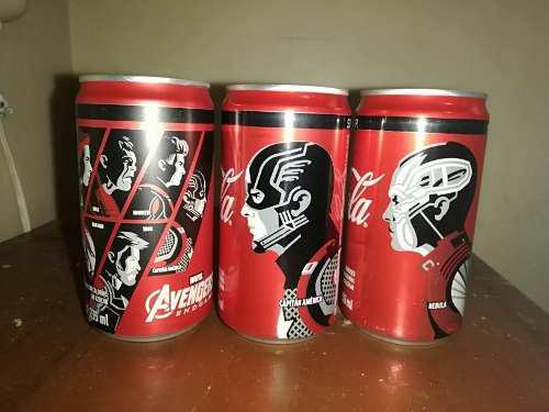 Latas coca cola avengers end game