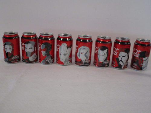 Latas coca cola avengers infinity war
