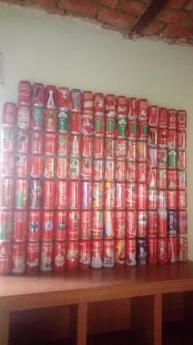 Latas de coca cola coleccion 263 pzas