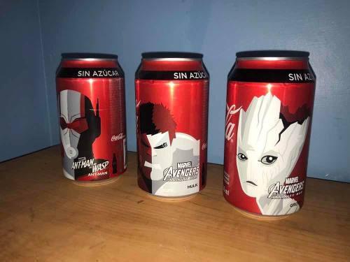 Latas de coca cola marvel avengers 3x150 edición limitada