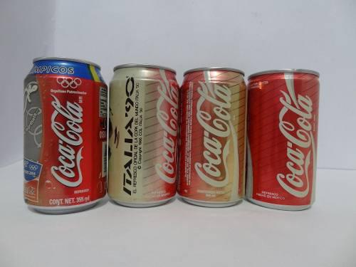 Lote 4 pz latas coca cola juegos olimpicos & copa mundo