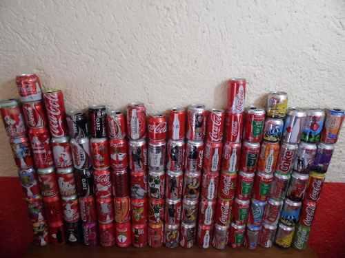 Lote de 88 latas de coca-cola, diferentes epocas!!!