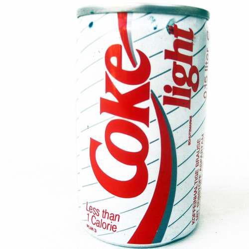 Mini lata antigua coca cola light coke 150ml holanda 90's