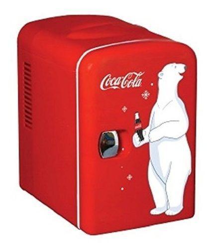 Mini refri vintage retro freezer coca cola 6 latas supecool