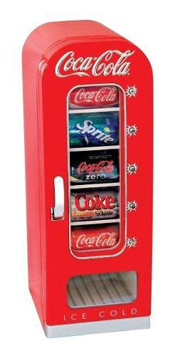 Mini refrigerador coca cola de colección para 10 latas
