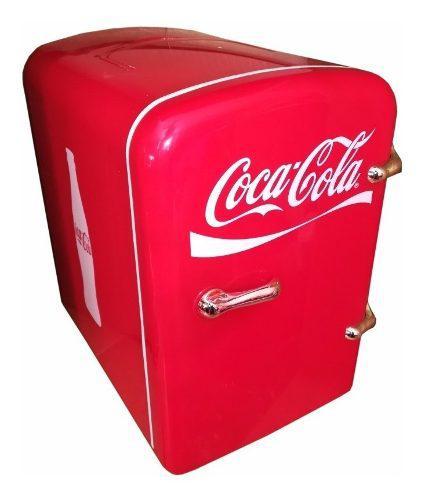 Mini refrigerador coca cola hielera para 6 lata 12v auto msi