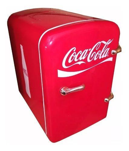 Mini refrigerador coca cola hielera para 6 latas auto msi