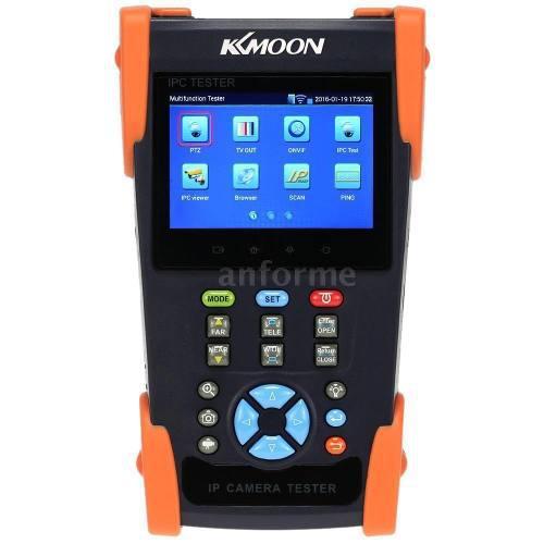 Probador de cámaras ip y analogas, ptz, audio y video, utp