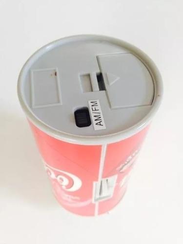 Radio am/fm lata de coca cola world cup 98 de colección