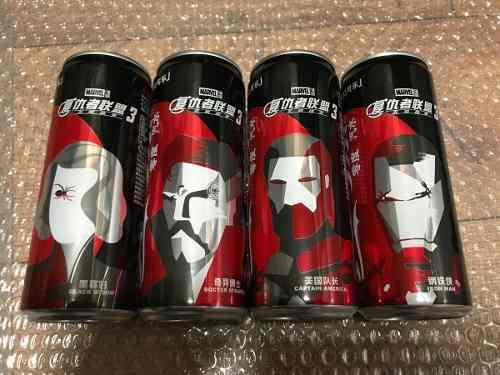 Set latas coca cola marvel avengers infinity war 2018 china