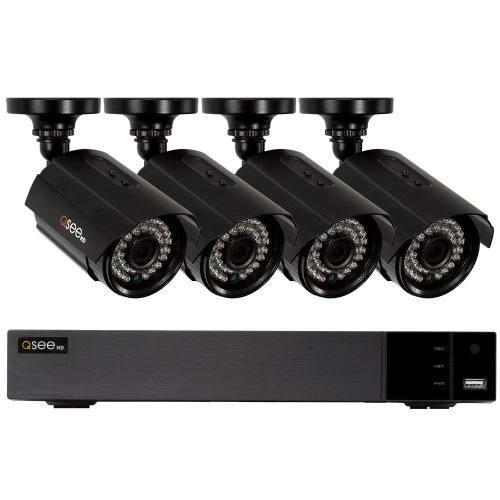 Sistema de seguridad con 4 cámaras hd 1080p con 4 canales