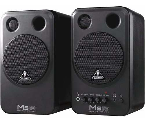 Behringer multimedia ms16 monitor de estudio 16w 4 pg