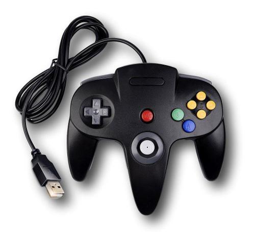 Control joystick usb para pc juegos nintendo n64 negro