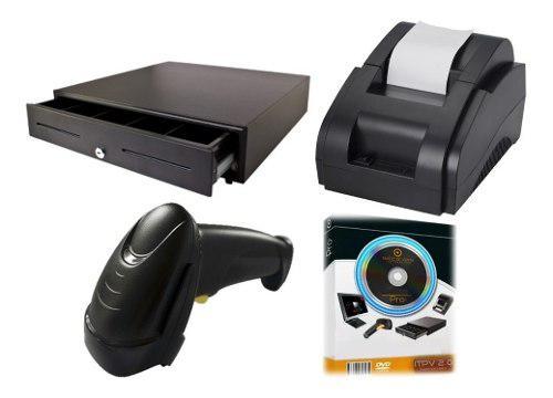 Kit punto de venta, impresora, lector, cajón y sofware