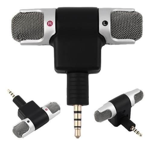 Micrófono estereo doble tipo condensador jack 3.5mm dhl