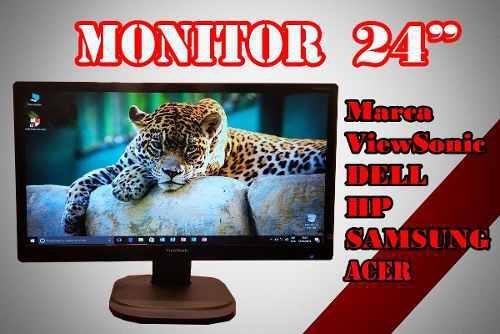 Monitor 24 pulgadas varias marcas buen estado no base