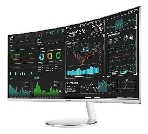 Monitor led samsung 34 wqhd lc34j791wtlxzx curvo blanco hdmi