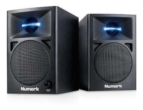 Monitores activos iluminacion led woofer 3, numark nwave360