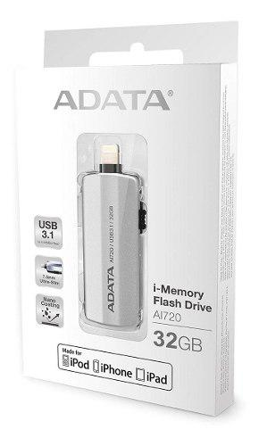 Otg adata memoria usb apple ai720 32gb
