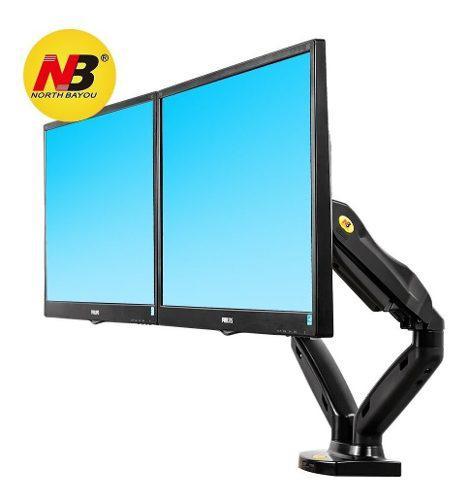 Soporte giratorio doble monitor 17-27' montaje en escritorio