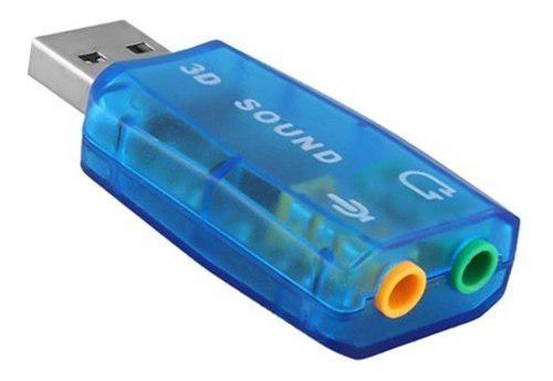 Adaptador tarjeta de sonido 3.5mm usb 5.1 canales audio 3d