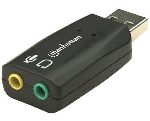 Adaptador tarjeta de sonido externa usb con salida de audio