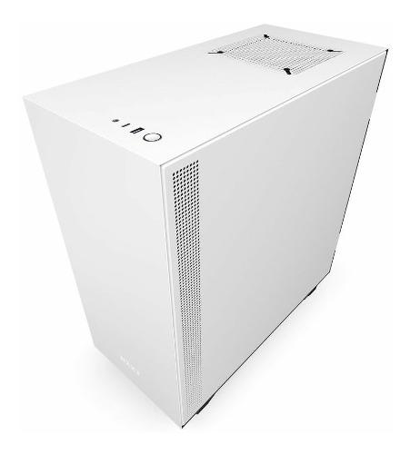 Gabinete nzxt h510 serie h, mid tower blanco