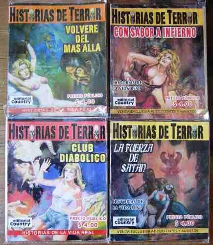 Historias de terror 4 revistas 25.00 c/u