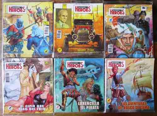 Hombres y heroes segunda epoca 46 numeros 30.00 c/u