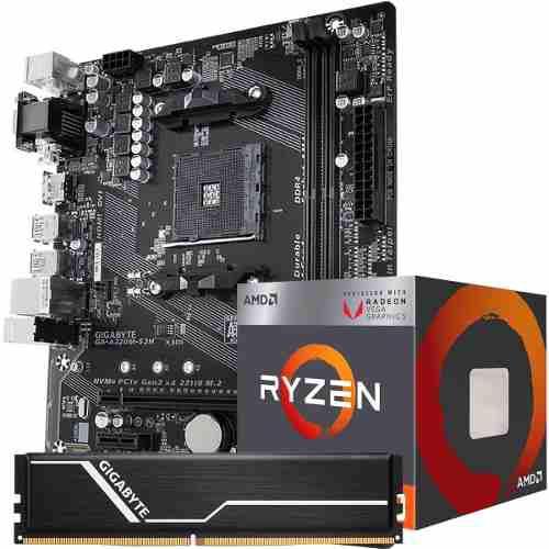 Kit actualizacion motherboard amd a320m-s2h gigabyte ryzen 3