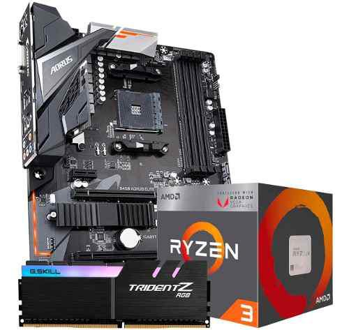 Kit de actualizacion b450 aorus elite ryzen 3 3200g 8gb am4