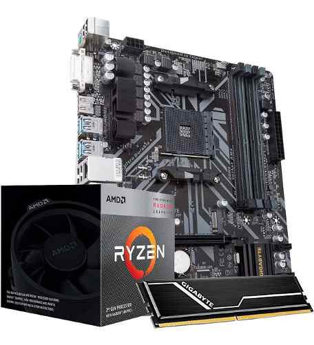 Kit de actualizacion motherboard amd b450m ds3h ryzen 5 8gb