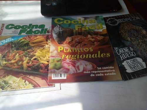Lote de revistas de cocina recetarios 80s 90s cocina fácil