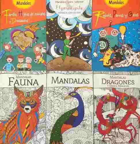 Mandalas 6 libros para colorear para niños y adultos