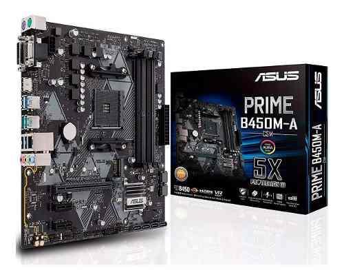 Motherboard am4 prime b450m-a/csm hdmi tarjeta madre asus