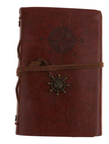 Papel recargable pu cuero vintage cuaderno diario diario