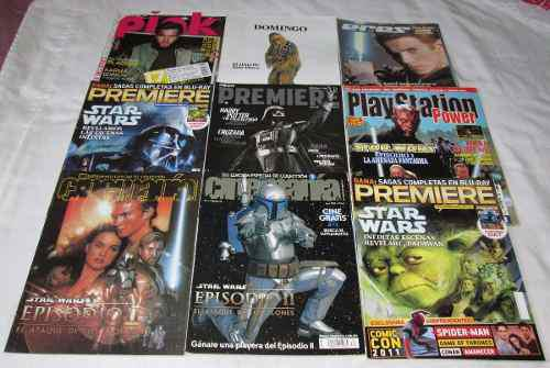 Star wars en revistas cinemania, cine premiere, pink, geek