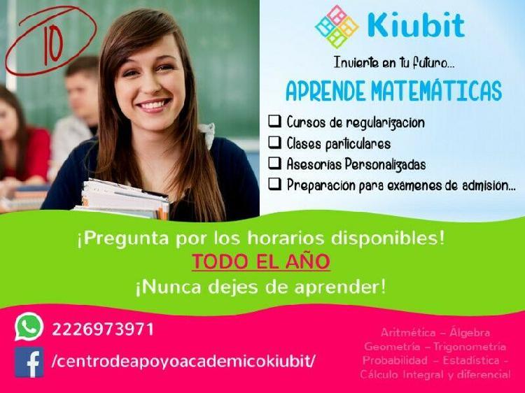 Clases particulares de matemáticas kiubit