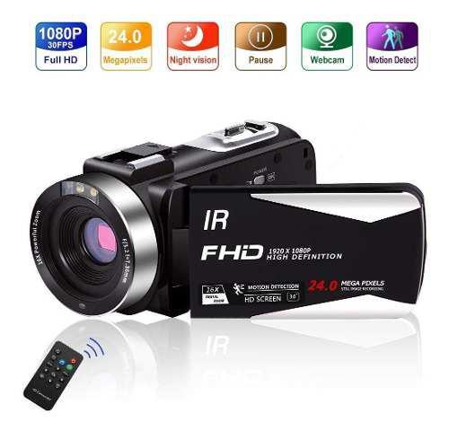 Cámara de vídeo vlogging cámara videocámara full hd