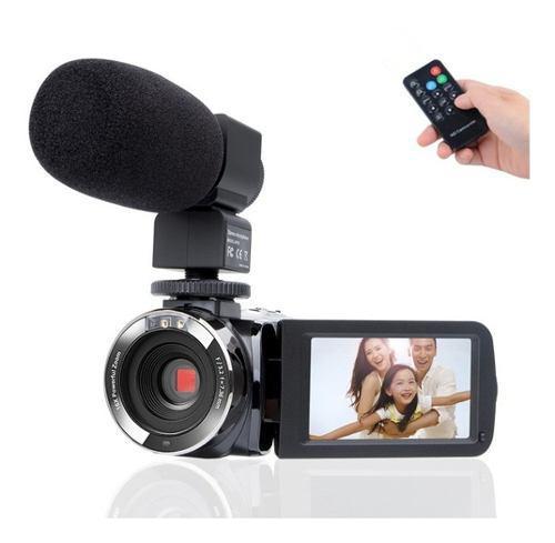 Cámara de videocámara kimire hd 1080p con micrófono,