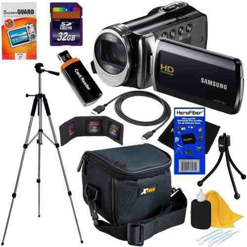 Kit videocamara samsung hd memoria 32 gb + accesorios vbf