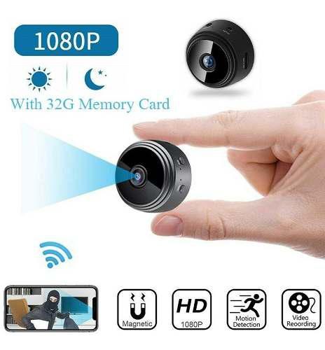 Mini cámara sin hilos wifi ip seguridad videocámara hd 108
