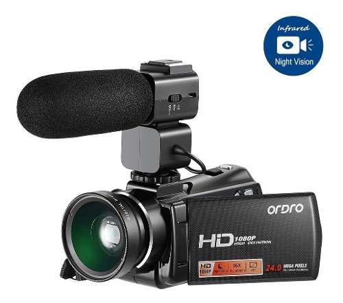Ordro V7 Plus 1080p Videocámara Full Hd Cámara De Vídeo