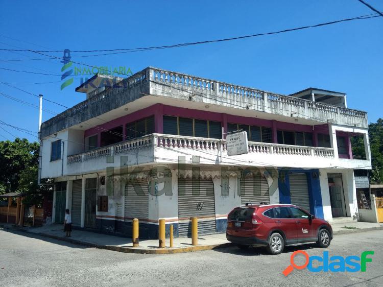 Venta casa con 4 locales comerciales col. anahuac tuxpan veracruz, anáhuac