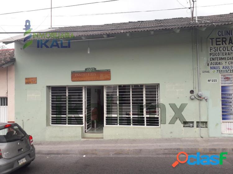 Venta casa o local comercial col. centro papantla veracruz, papantla centro